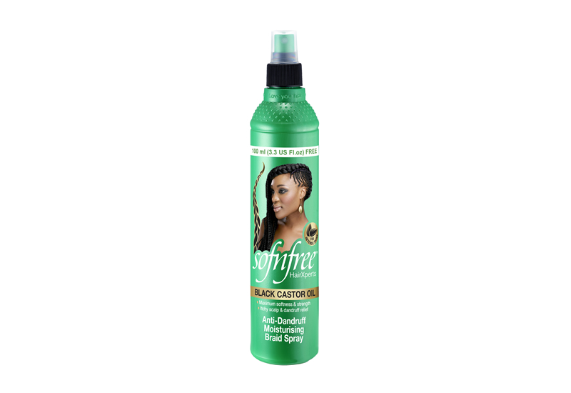 Sofnfree Black Castor Oil Anti-Dandruff Moisturising Braid Spray