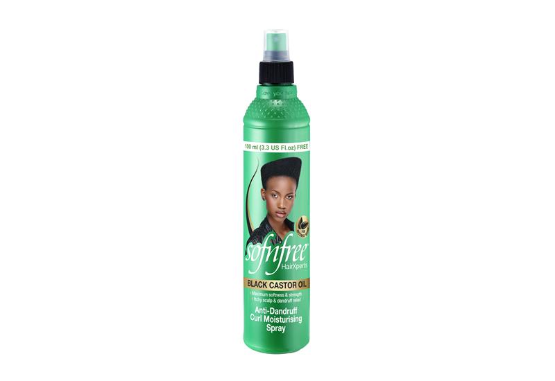 Sofnfree Black Castor Oil Anti-Dandruff Curl Moisturising Spray