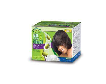 Milk & Olive Single Kit Relaxer Regular Kit