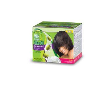 Milk & Olive Single Kit Relaxer Super Kit