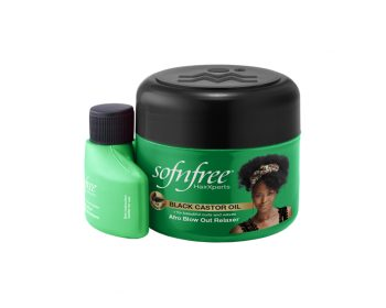 Sofnfree Black Castor Oil Afro Blowout Relaxer
